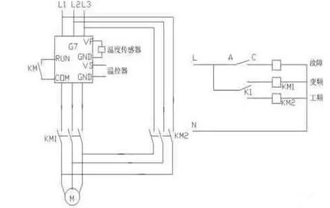 变频器温度保护电路图